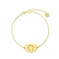 M00180 - Pulsera Valentina Espiral dorada