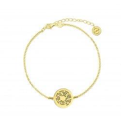 M00182 - Pulsera Luna Espiral dorada