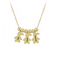 M00082 - Gargantilla 3 Niñas dorado