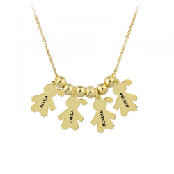 M00086 - Gargantilla 4 Niñas dorado
