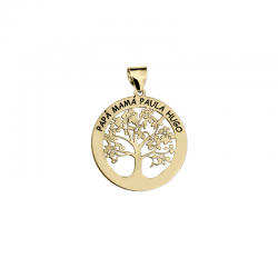 M00142 - Colgante Árbol de la Familia dorado