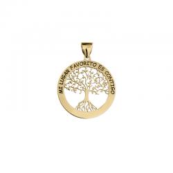 M00143 - Colgante Árbol de la Vida dorado