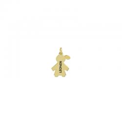 M00093 - Colgante Niña dorado