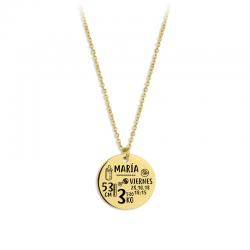 M00020 - Gargantilla Natalicia dorado
