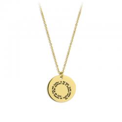 M00192 - Gargantilla Talismán espiral dorado