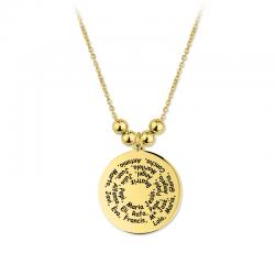 M00190 - Gargantilla Gante Espiral dorado