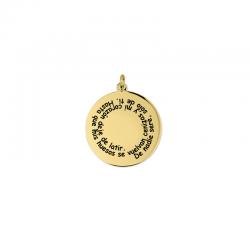 M00187 - Colgante Espiral dorado